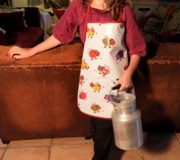 Tablier PVC mixte motifs vaches.6-8 ans Breizh RAIN'ette -produit breton