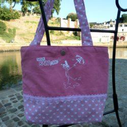 Petit sac rose gurly .breizh RAIN'ette.Produit breton