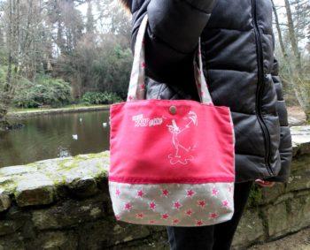 Petit sac fushia étoiles-BREIZH RAIN'ette-Produit breton
