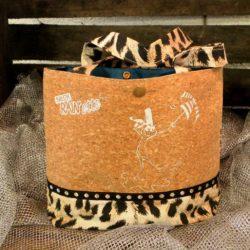 Petit sac liège léopard-Breizh RAIN'ette.Produit breton