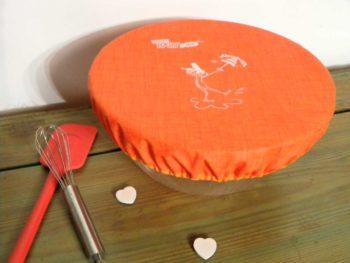 Couvercle-charlotte-réutilisable-orange-.Breizh-RAINette.Produit-breton.
