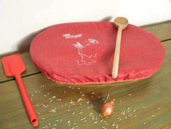 Couvercle charlotte réutilisable ovale 35 cm x 25 cm.Breizh RAIN'ette.Produit breton