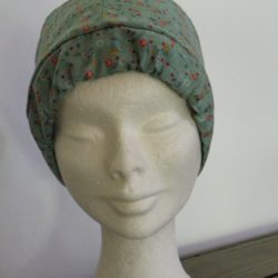 Calot-tissu-femme-vert-.Breizh-RAINette.Produit-breton.