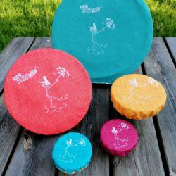 kit couvercles réutilisables multicolore BREIZH RAIN'ette .produit breton.